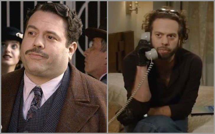 Dan Fogler's look in Fantastic Beasts before weight loss and The Goldbergs look after weight loss.