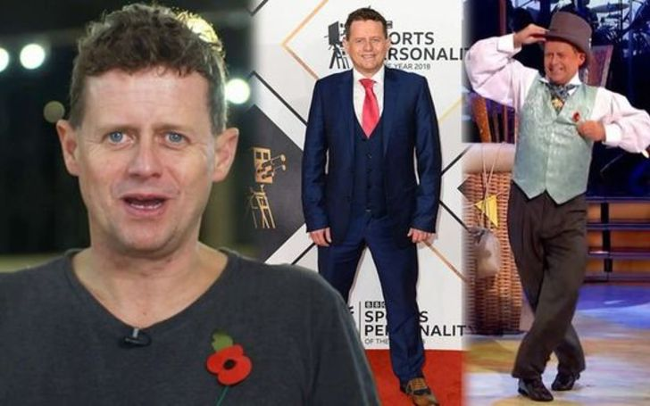 Mike Bushell's weight loss journey in Strictly Come Dancing in three pictures.